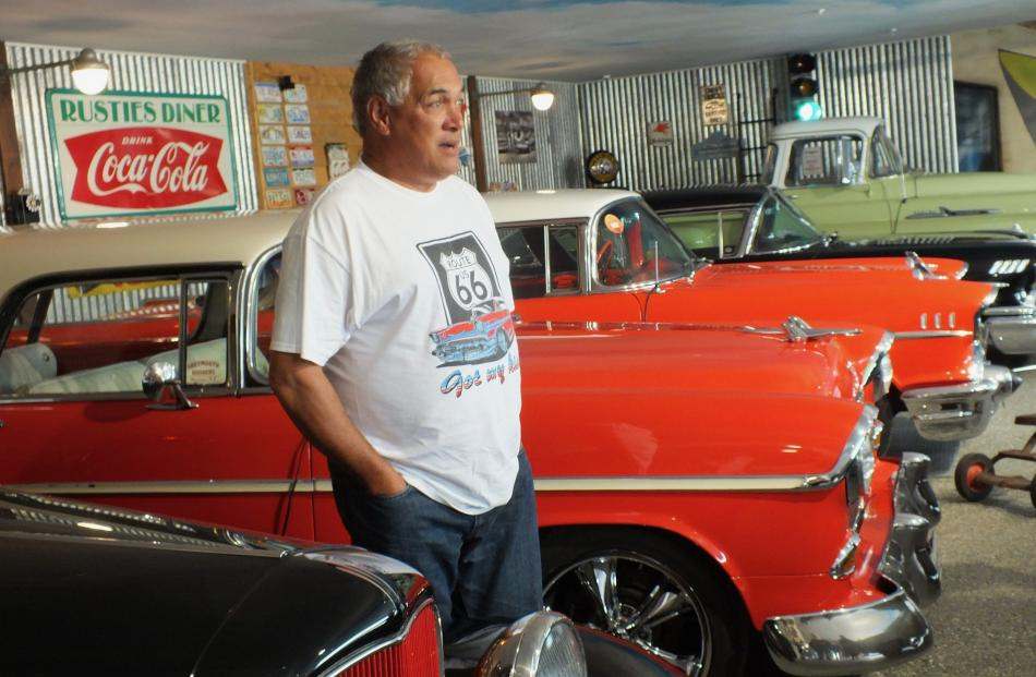 Paul Emery with some of his American classic cars.