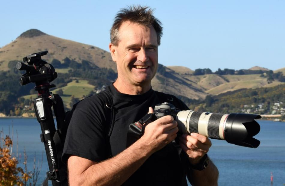 The big picture ... Port Chalmers photographer Andy Thompson is photographing the activities of ...