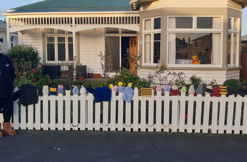 Handiwork . . . Jan Willocks, St Kilda displays some of her knitting for Pregnancy Help (Dunedin)...
