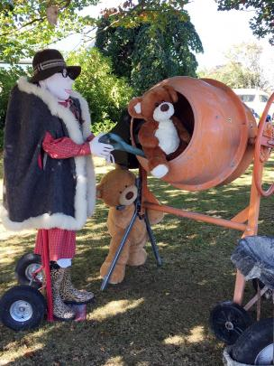 These teddies have featured every day at the old vicarage on State Highway 1 in Milton, complete...