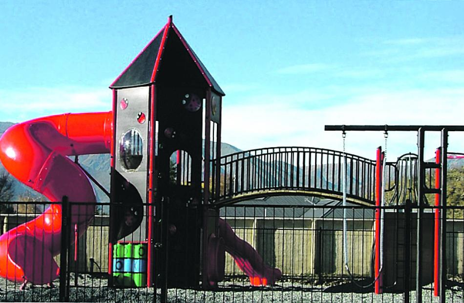 The exciting, custom-built children's play ground.