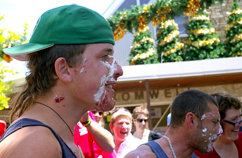 Faun at last years Cherry Pie Eating Competition.