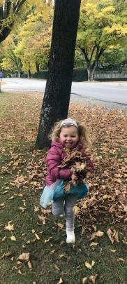 Come little leaves . . . You can't walk past a pile of leaves and leave them. Estelle Percasky (3...