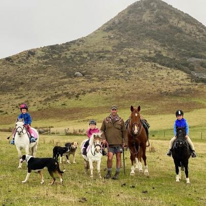 Mustering crew . . . The Smith family has been enjoying working together on pony and horseback...