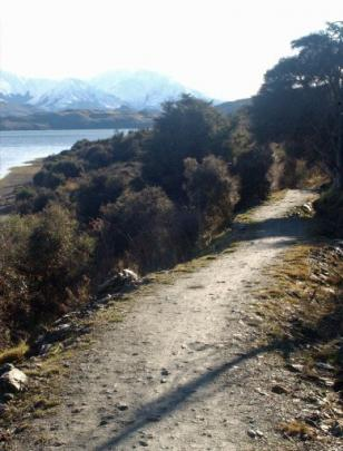 The Wanaka to Glendhu Bay track at Damper Bay. Photos by John Fridd.