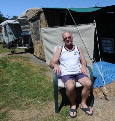 Roy Daniels, of Christchurch, has been coming to Waihola for his holidays for 12 years.
