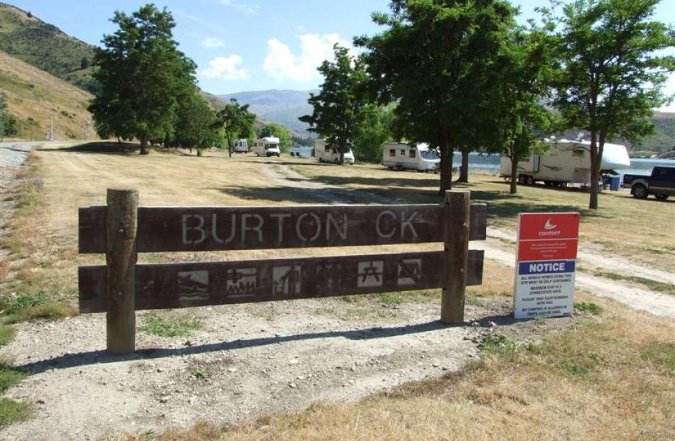 Burton Creek, near Clyde, is becoming a popular camping spot for owners of self-contained mobile...