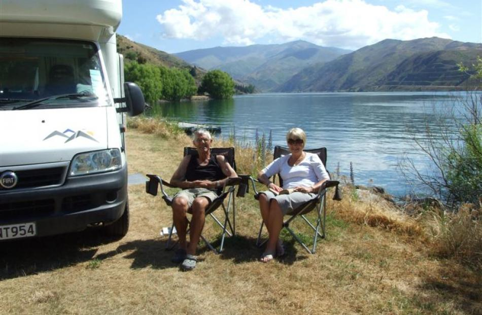 North Islanders Bruce and Ann Watson, of Taupo, travel to the South Island every year and say...
