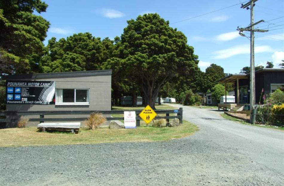 The Pounawea Motor Camp is a favourite camping spot in the Catlins, in a sheltered spot backing...