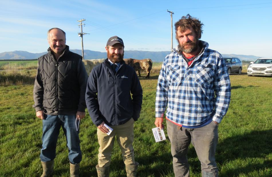Assessing the quality ... Fraser and Susie Fletcher, hosted their second on farm bull sale at...