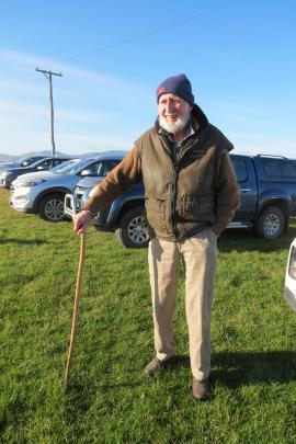 Good bulls ... Richard Anderson, of Kawarau Station, Bannockburn, was looking over Glendhu...