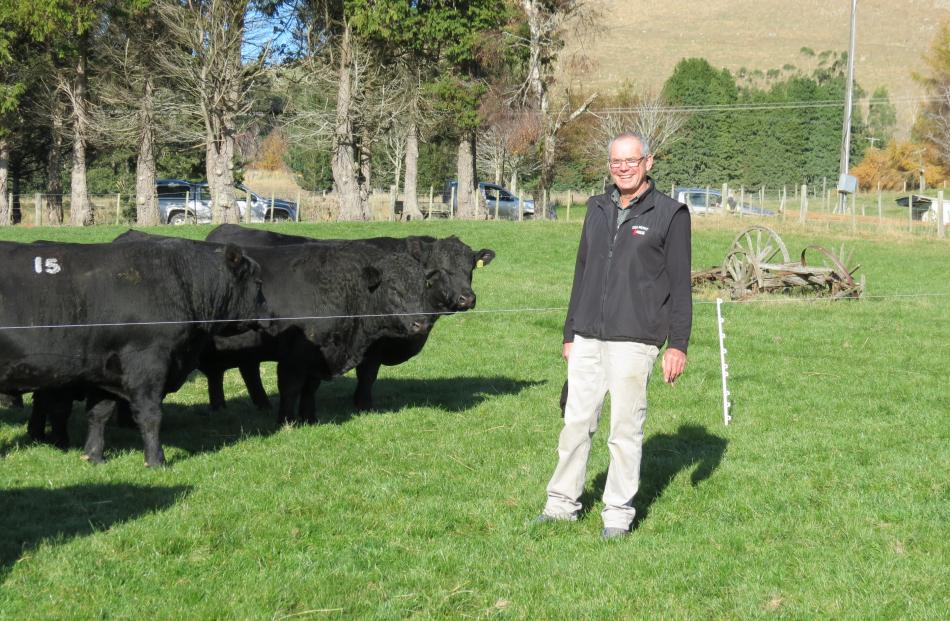 Pleasing turnout...Delmont Angus owner John Cochrane was pleased with the number of people who...