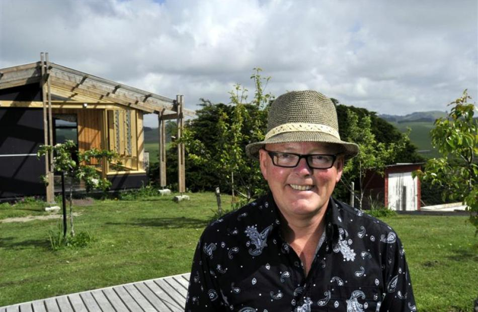 Dunedin architect Ian Butcher at the property on the outskirts of Oamaru he and wife Fliss are...