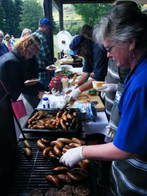 Glenorchy School staff, parents and volunteers, served up hearty tucker at their fundraising stall.