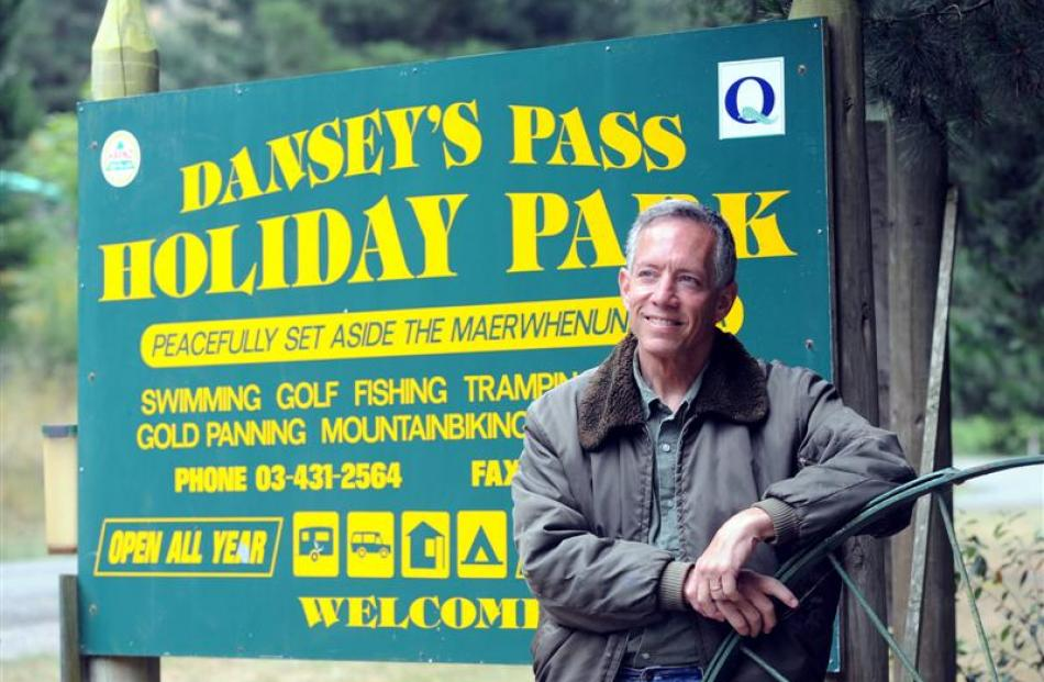 Scott Brown, owner of Danseys Pass Holiday Park, loves his home. Photo by Peter McIntosh.
