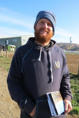 Making a choice ... Cameron McNeish, of The Knobbies, Roxburgh, was at the sale last week.