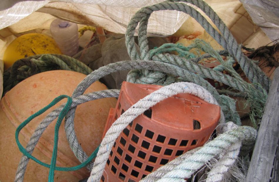 More beach rubbish.