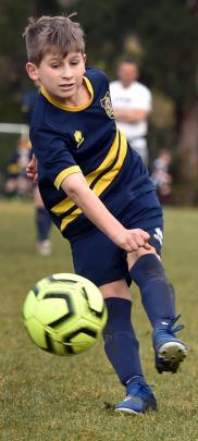 Melchester Minions player Harvey Paardekooper (9) scores one of his team's five goals.