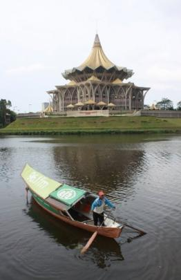 The new state assembly building at Kuching, Sarawak, on the island of Borneo.