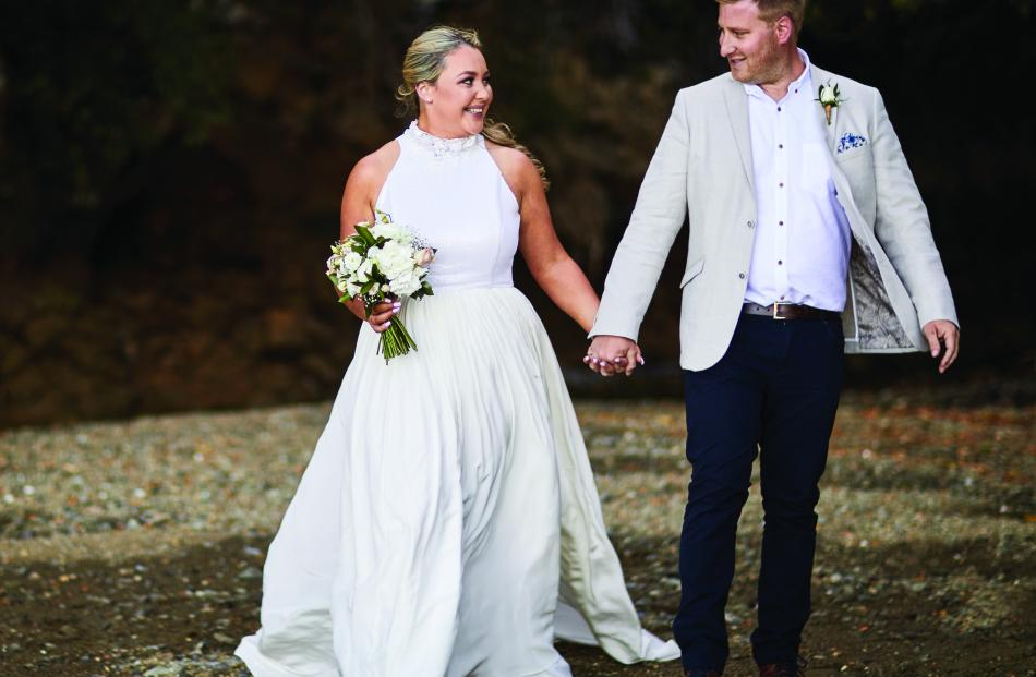 Wedding dress from Beau Couture. Photo: Jessica Jones