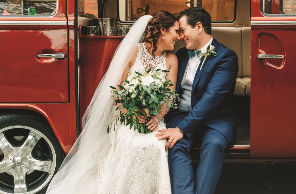 Wedding dress from Beau Couture. Photo: Nicole Gourley.