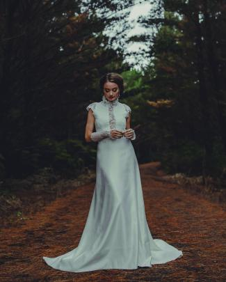 Wedding dress from Beau Couture. Photo: Kate Little photography.