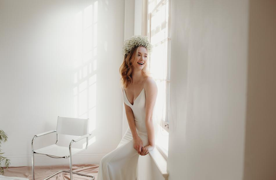 Daisy Brides Sand Lily wedding dress from Novia Brides.