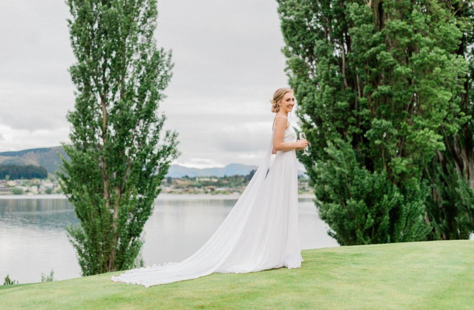 Wedding dress from Margaret Wray. Photo: Wendy Bowie Photography.