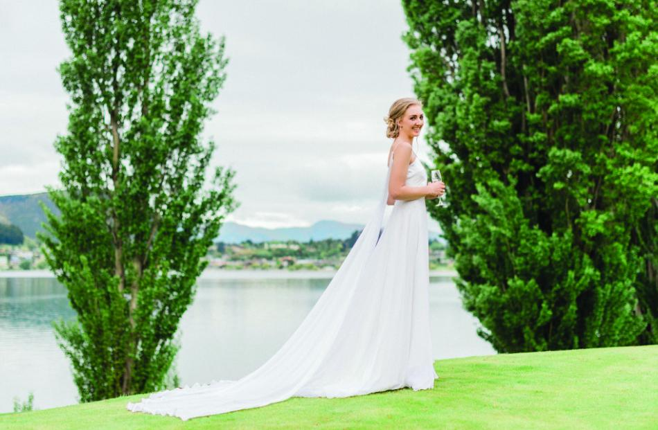 Wedding dress from Margaret Wray. Photo: Bowie Photography