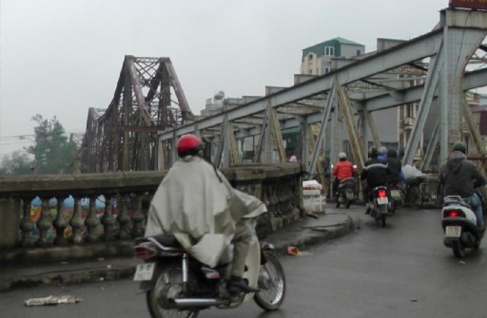 The Long Bien Bridge was designed by Gustave Eiffel.