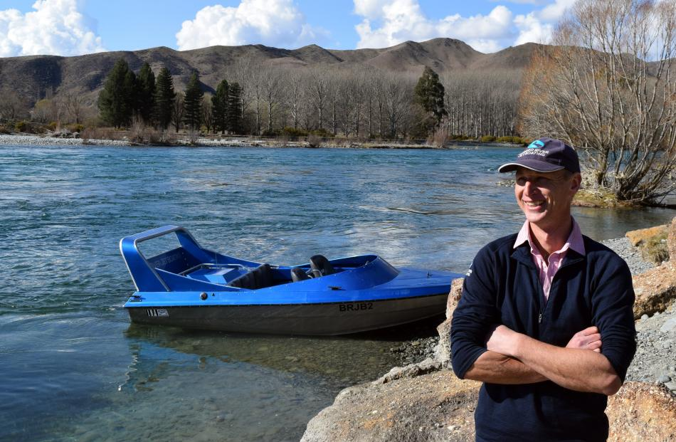 Braided River Jet Boating owner Ronald Clearwater in Kurow.