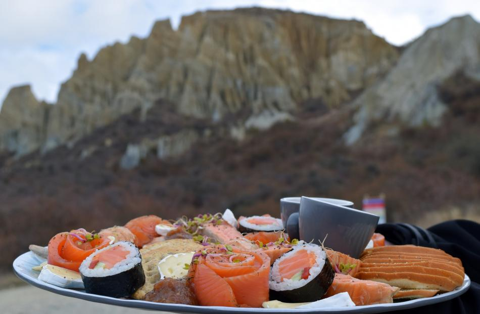 A High Country Salmon platter at the Clay Cliffs was a tempting treat.