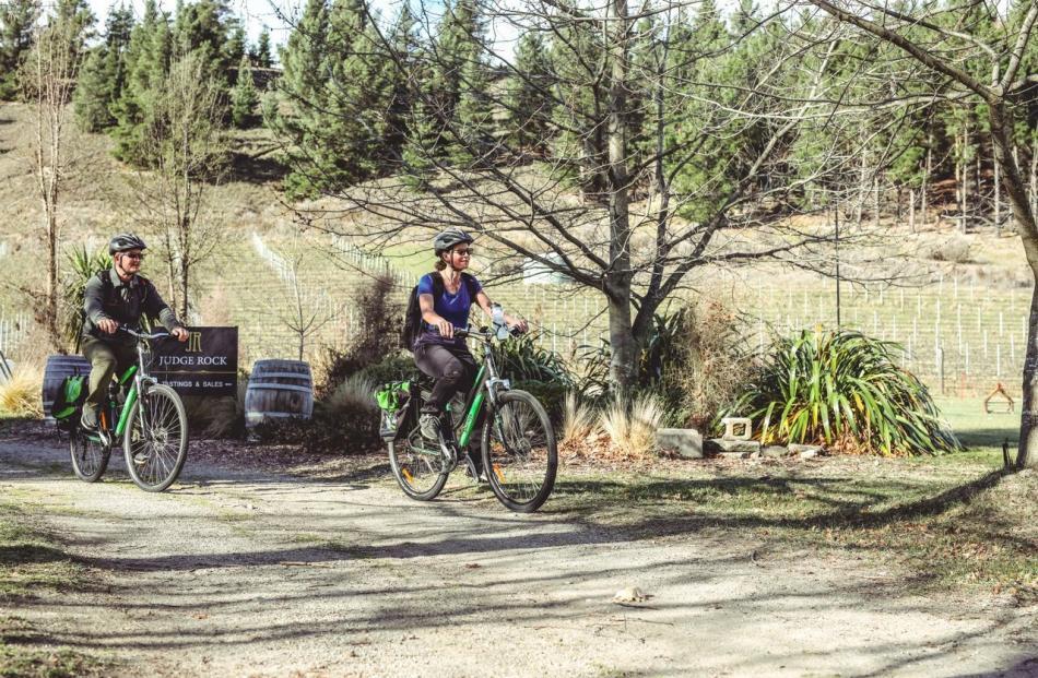 Electric bikes make the ride very easy. PHOTOS: TOURISM CENTRAL OTAGO / JAMES JUBB