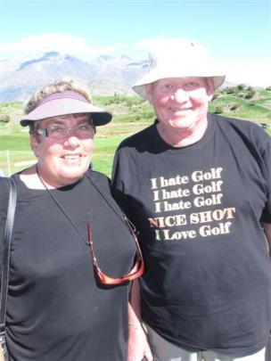 Barbara Logan (left) and Roger Parsons, both of Dunedin.