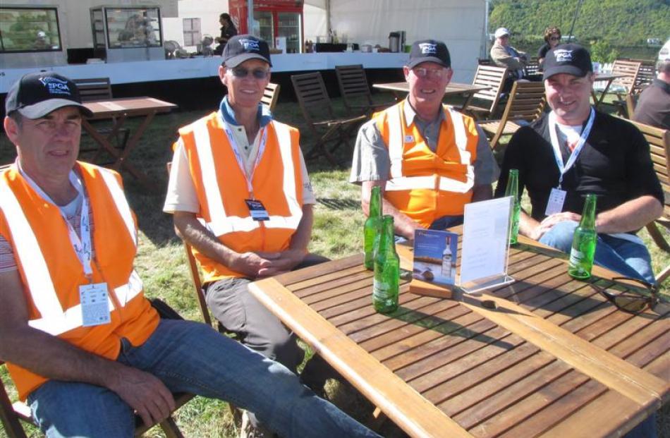 Wanaka Rotarians (from left)  Harry Briggs, John Huddleston, David McKenzie and Jarrod Frazer....