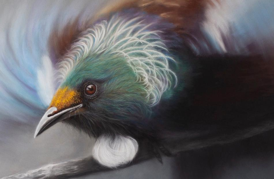 Boss...Incoming was awarded second place and peoples' choice in the PANZ Pastel Artists of NZ in Dunedin earlier this year.