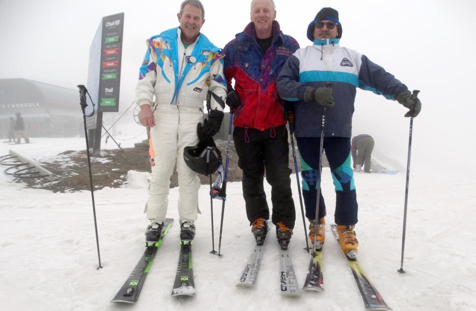 Nigel Kerr, of Arrowtown, and Sean Gilbertson and Chris Riley, of Wanaka.