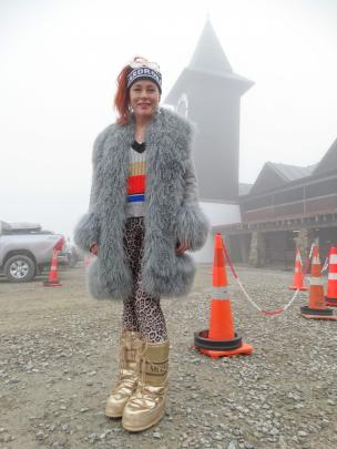 Cardrona Alpine Resort general manager Bridget Legnavsky in 1980s party mode.