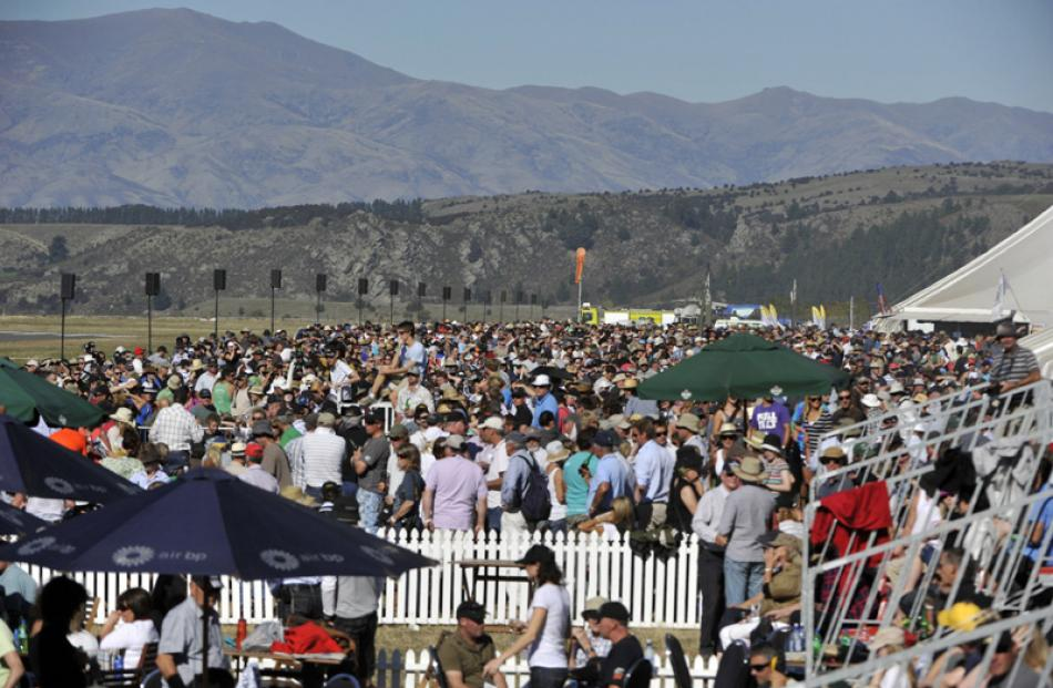 The Warbirds over Wanaka crowd, Saturday.