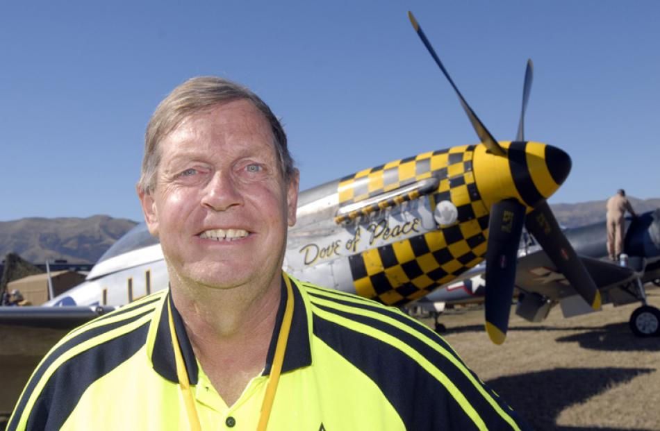 Dunedin man graham fox was thrilled about his ride in the Dove of Peace P51 Mustang on Friday...