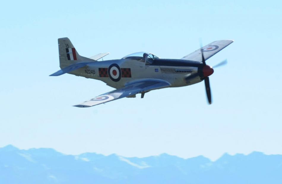 A Mustang P51 during the Warbirds Over Wanaka 2012 Friday session.