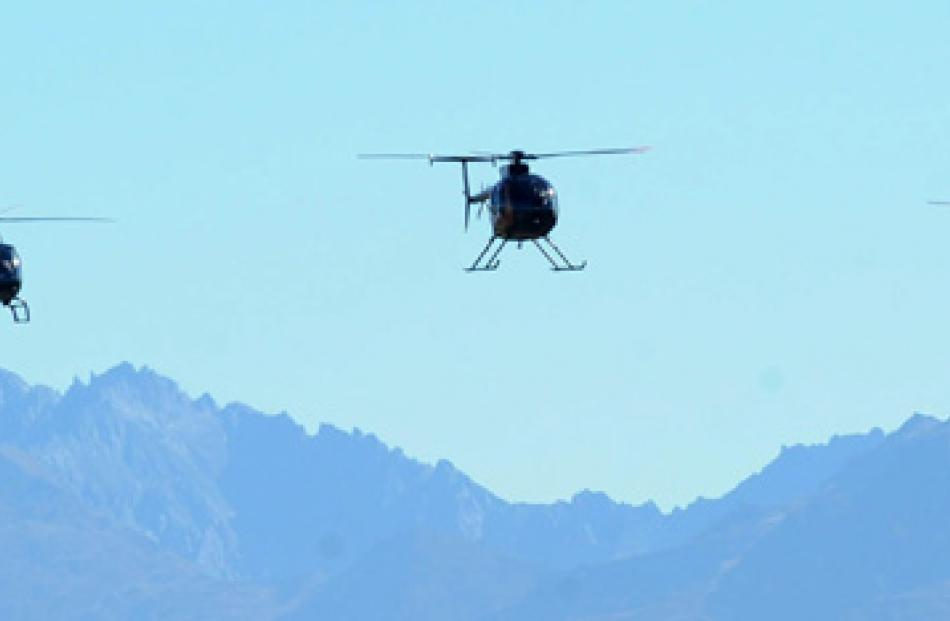 Helicotpter display during the Warbirds Over Wanaka 2012Friday session.