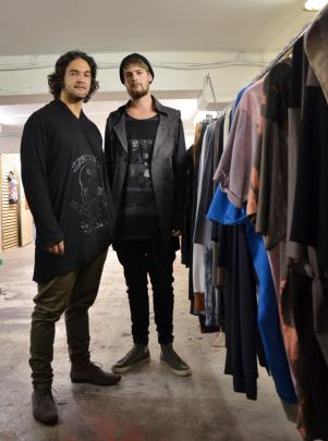 Josh Jeffery (Left) and Richie Boyens in the Above Ground studio and retail outlet. Photo: Emily...