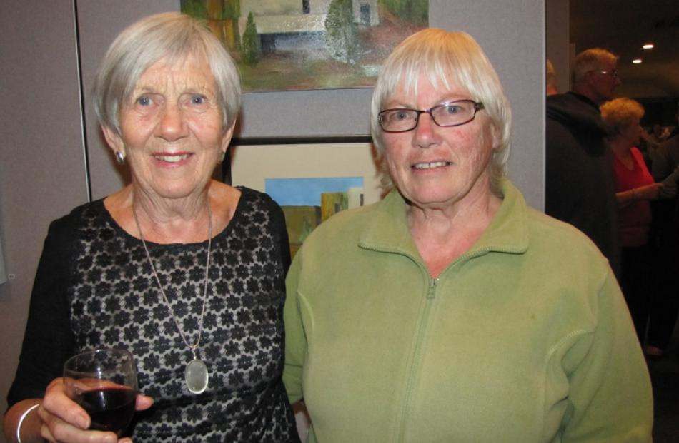 Freda Ryder of Wanaka and Cheryl Taylor of Luggate.