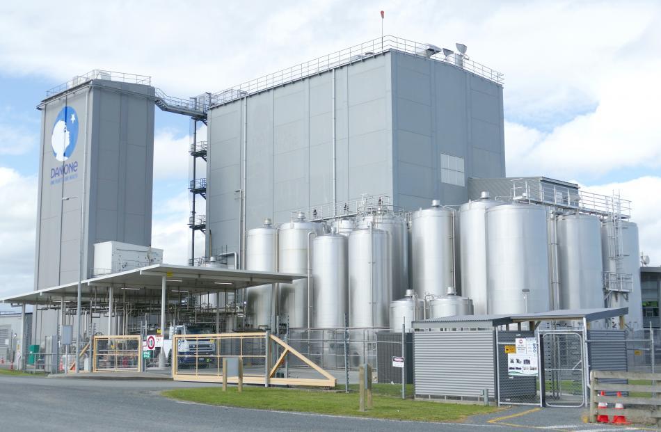 Danone Nutricia NZ's Clydevale plant.
