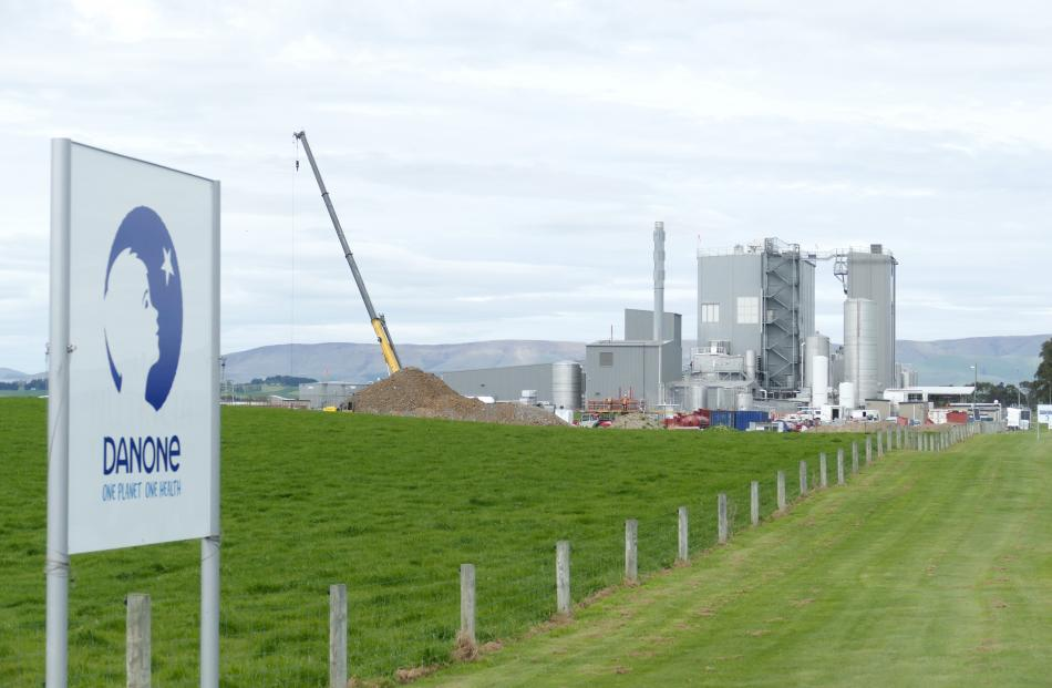 Construction has begun on a new biomass boiler plant at Danone's Clydevale plant.