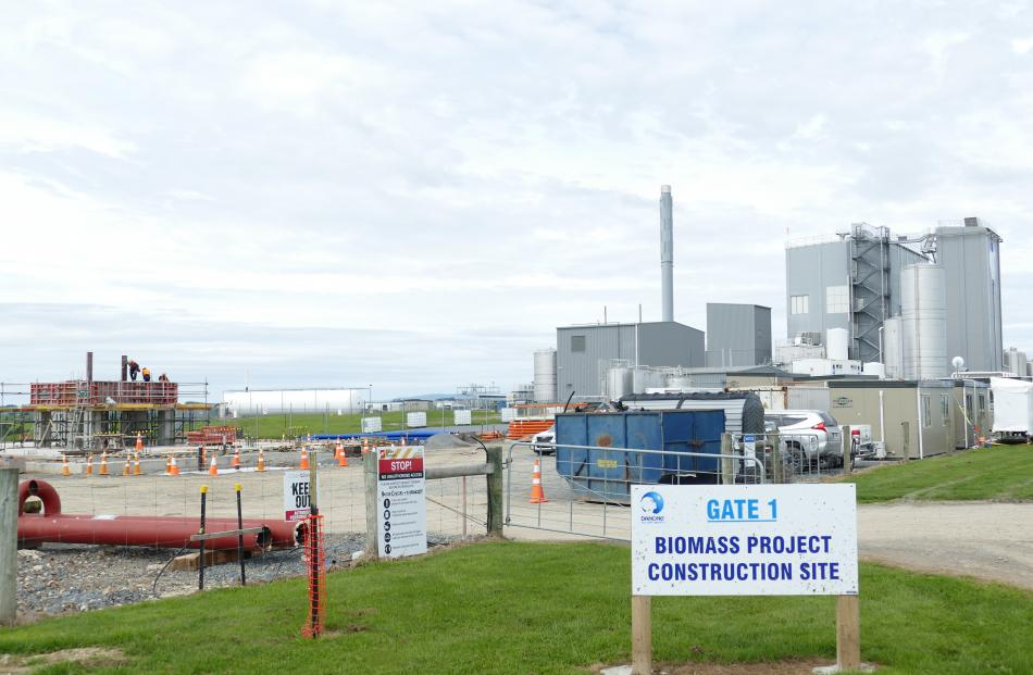 The biomass project construction site adjoining Danone's Clydevale milk powder plant.