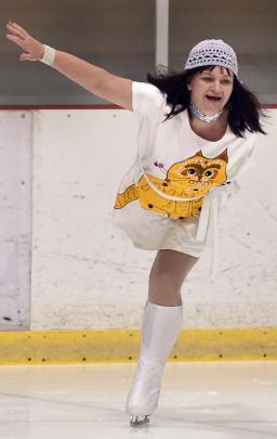 Glenda Bronkhorst, of theAllegro Ice Dance Club, competes in the adult interpretive silver II...