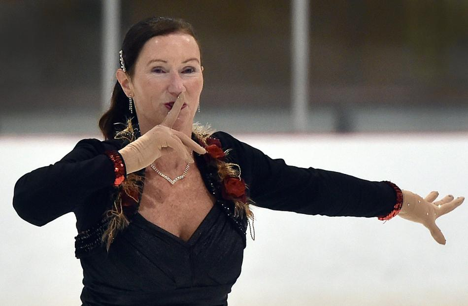 Fiona Pickering, of the Dunedin Ice Skating Club, competes in the adult interpretive II bronze...