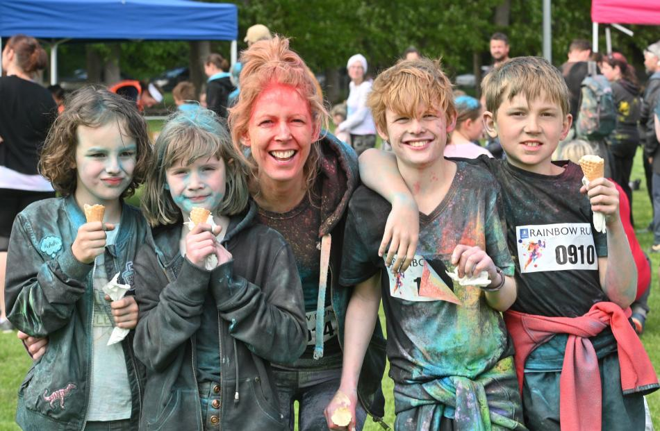Ice creams were a reward enjoyed by members of the Culpan family and friends. From left, Alice...